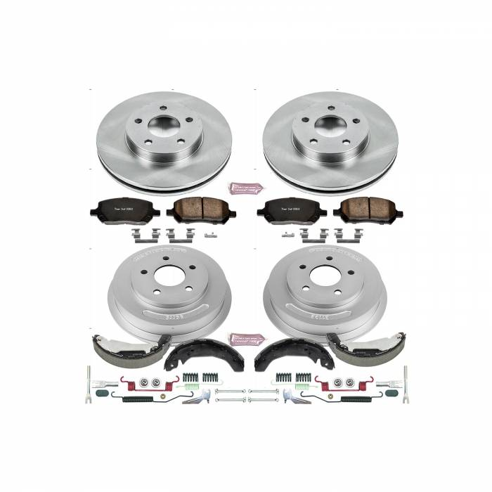 Power Stop - Autospecialty By Power Stop 1-Click Daily Driver Pad/Rotor/Drum And Shoe Kits | Power Stop (KOE15422DK)