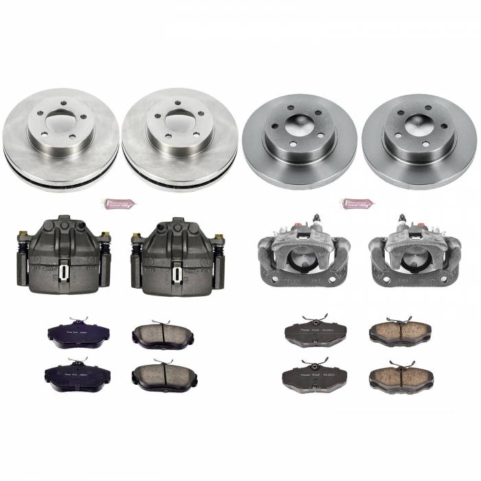 Power Stop - Autospecialty By Power Stop 1-Click OE Replacement Brake Kit w/Calipers | Power Stop (KCOE1328)