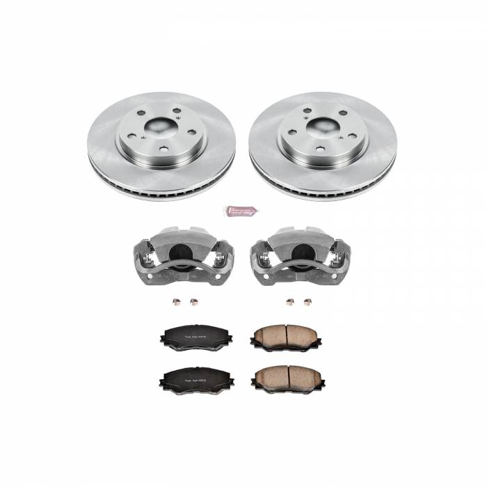 Power Stop - Autospecialty By Power Stop 1-Click OE Replacement Brake Kit w/Calipers | Power Stop (KCOE258A)
