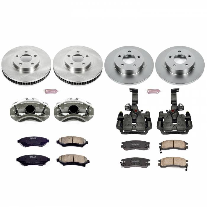 Power Stop - Autospecialty By Power Stop 1-Click OE Replacement Brake Kit w/Calipers | Power Stop (KCOE1543F)
