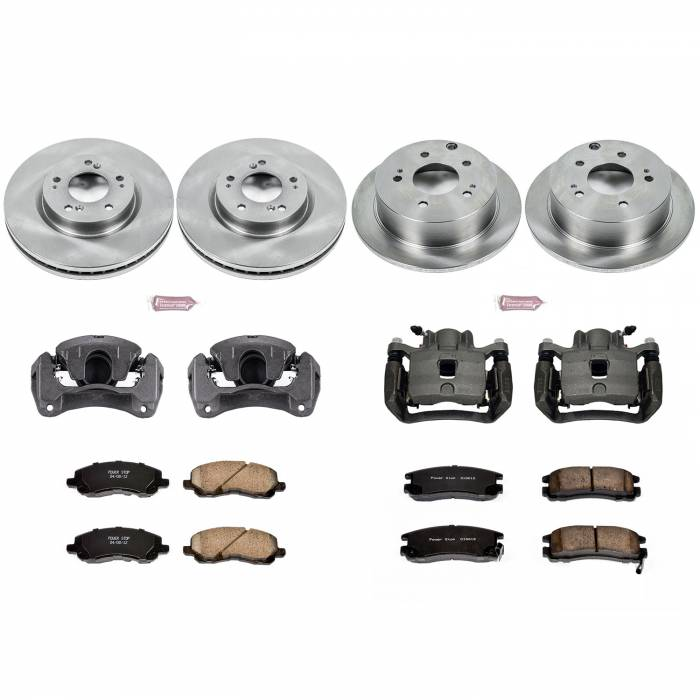 Power Stop - Autospecialty By Power Stop 1-Click OE Replacement Brake Kit w/Calipers   Power Stop (KCOE2711)
