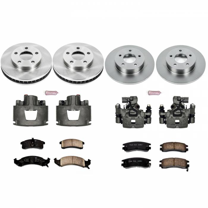Power Stop - Autospecialty By Power Stop 1-Click OE Replacement Brake Kit w/Calipers | Power Stop (KCOE2762A)