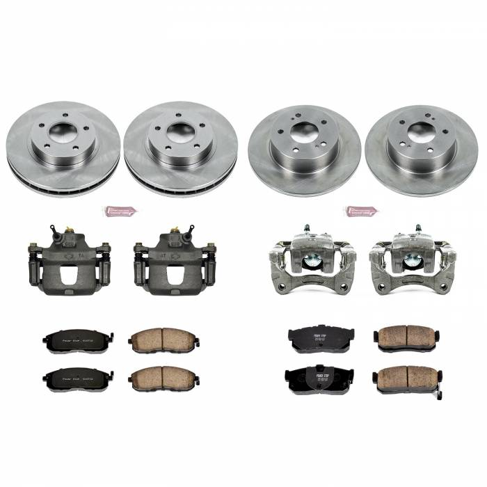 Power Stop - Autospecialty By Power Stop 1-Click OE Replacement Brake Kit w/Calipers | Power Stop (KCOE2704A)