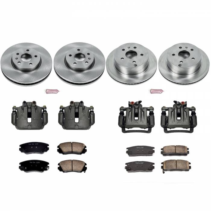 Power Stop - Autospecialty By Power Stop 1-Click OE Replacement Brake Kit w/Calipers | Power Stop (KCOE5516)