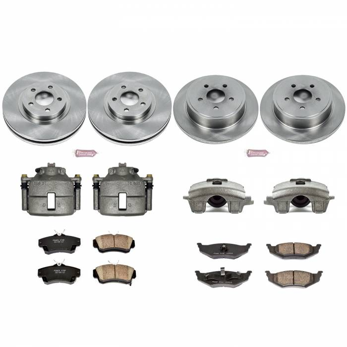 Power Stop - Autospecialty By Power Stop 1-Click OE Replacement Brake Kit w/Calipers | Power Stop (KCOE6180)