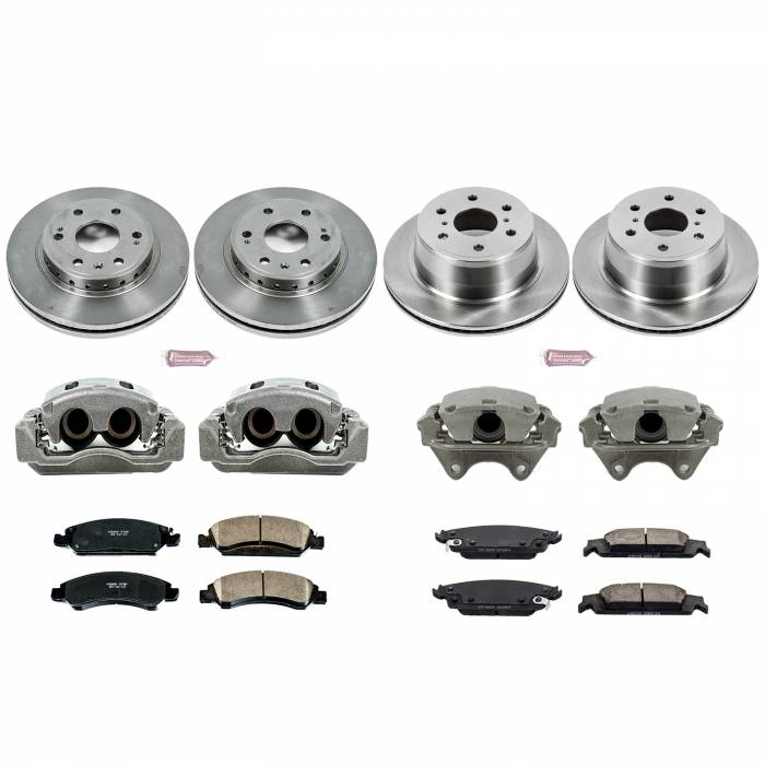 Power Stop - Autospecialty By Power Stop 1-Click OE Replacement Brake Kit w/Calipers | Power Stop (KCOE7225)