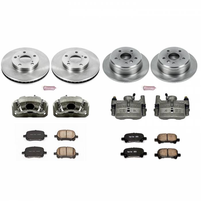 Power Stop - Autospecialty By Power Stop 1-Click OE Replacement Brake Kit w/Calipers | Power Stop (KCOE1060)
