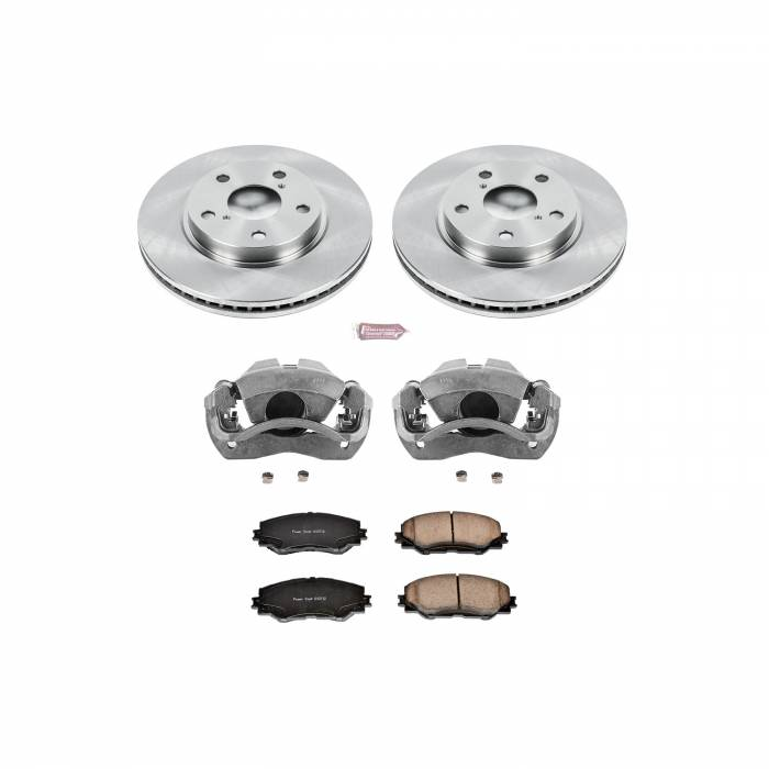 Power Stop - Autospecialty By Power Stop 1-Click OE Replacement Brake Kit w/Calipers | Power Stop (KCOE258)