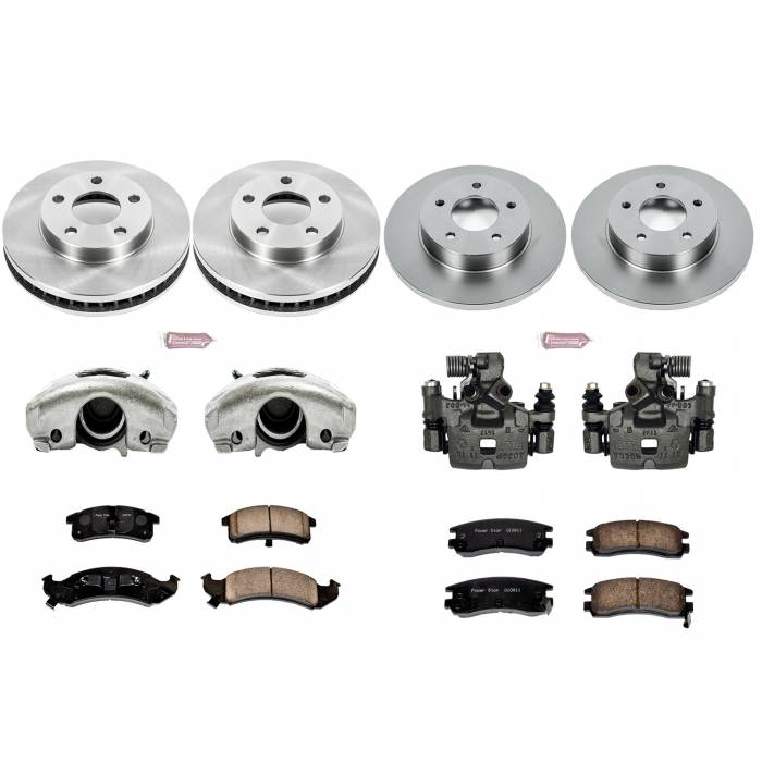 Power Stop - Autospecialty By Power Stop 1-Click OE Replacement Brake Kit w/Calipers | Power Stop (KCOE2763)