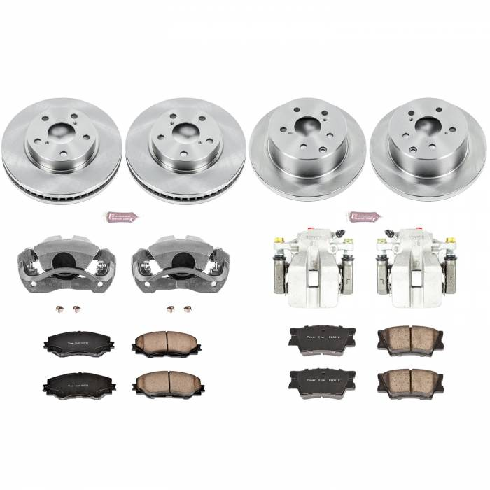 Power Stop - Autospecialty By Power Stop 1-Click OE Replacement Brake Kit w/Calipers | Power Stop (KCOE4100A)