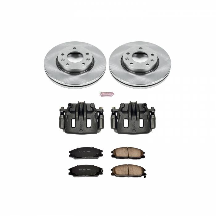 Power Stop - Autospecialty By Power Stop 1-Click OE Replacement Brake Kit w/Calipers | Power Stop (KCOE5252)
