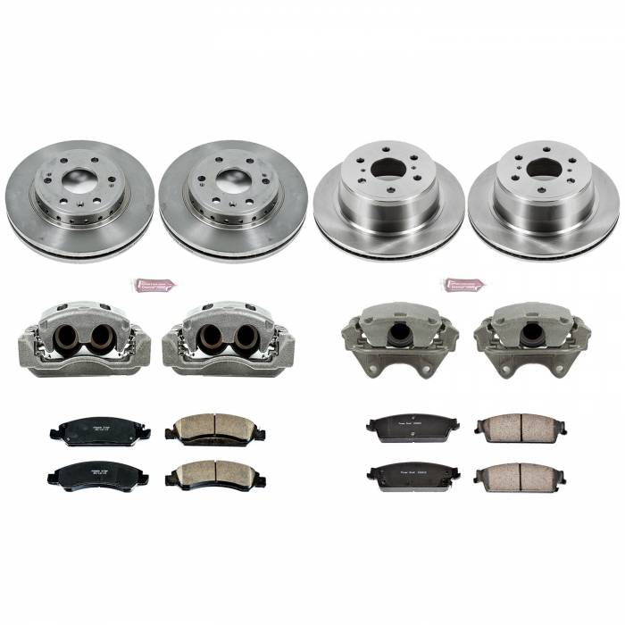 Power Stop - Autospecialty By Power Stop 1-Click OE Replacement Brake Kit w/Calipers | Power Stop (KCOE5520)