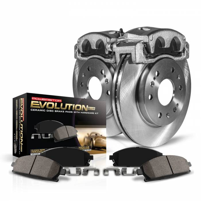 Power Stop - Autospecialty By Power Stop 1-Click OE Replacement Brake Kit w/Calipers | Power Stop (KCOE5370)