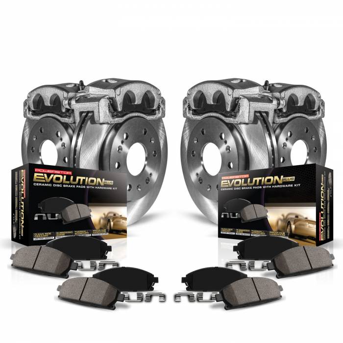 Power Stop - Autospecialty By Power Stop 1-Click OE Replacement Brake Kit w/Calipers | Power Stop (KCOE121A)
