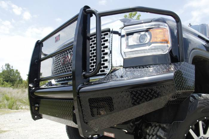 Fab Fours - Black Steel Front Ranch Bumper   Fab Fours (GM14-S3160-1)