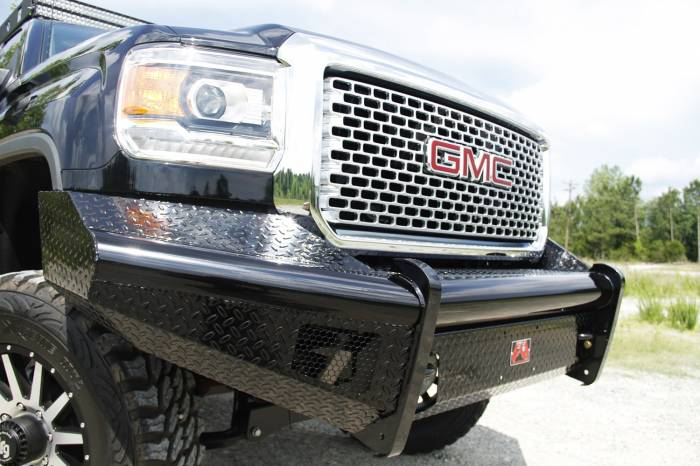 Fab Fours - Black Steel Front Ranch Bumper | Fab Fours (GM14-S3161-1)