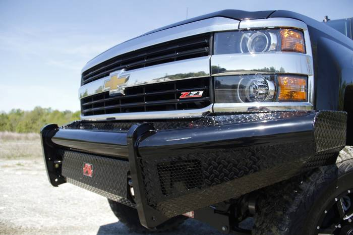 Fab Fours - Black Steel Front Ranch Bumper | Fab Fours (CH14-S3061-1)