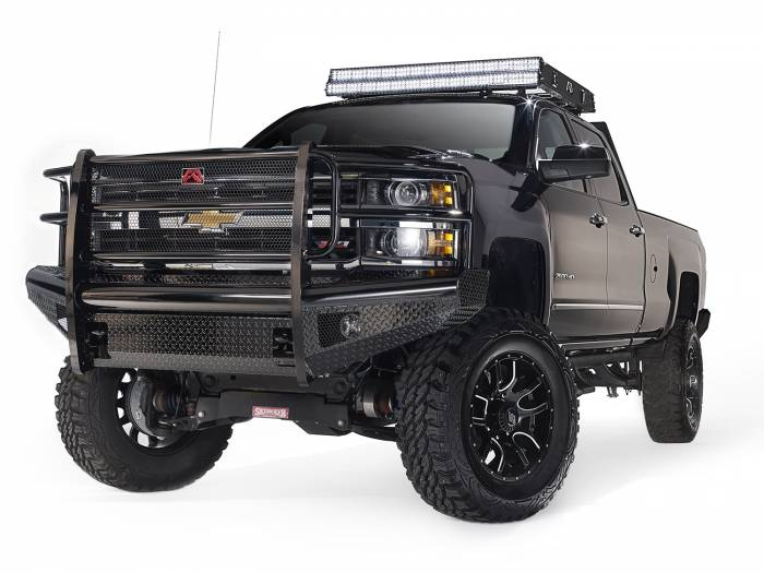 Fab Fours - Black Steel Front Ranch Bumper | Fab Fours (CH14-S3060-1)