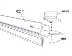 Tonneau Cover - Tonneau Cover Hardware Kit - Access Cover - Hook Tape Replacement Kit   Access Cover (20790)
