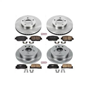 Brakes - Disc Brake Pad and Rotor Kit - Power Stop - Autospecialty By Power Stop 1-Click Daily Driver Brake Kits | Power Stop (KOE1066)