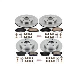 Brakes - Disc Brake Pad and Rotor Kit - Power Stop - Autospecialty By Power Stop 1-Click Daily Driver Brake Kits | Power Stop (KOE1042)