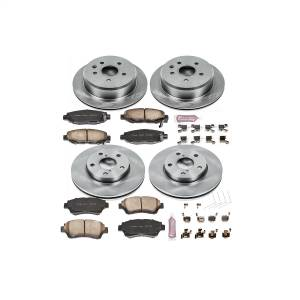 Brakes - Disc Brake Pad and Rotor Kit - Power Stop - Autospecialty By Power Stop 1-Click Daily Driver Brake Kits | Power Stop (KOE1071)