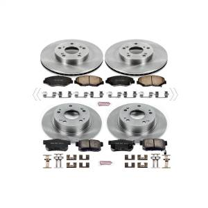 Brakes - Disc Brake Pad and Rotor Kit - Power Stop - Autospecialty By Power Stop 1-Click Daily Driver Brake Kits | Power Stop (KOE1047)