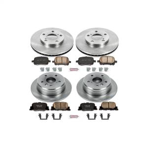 Brakes - Disc Brake Pad and Rotor Kit - Power Stop - Autospecialty By Power Stop 1-Click Daily Driver Brake Kits | Power Stop (KOE1061)
