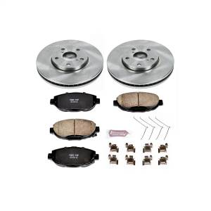 Brakes - Disc Brake Pad and Rotor Kit - Power Stop - Autospecialty By Power Stop 1-Click Daily Driver Brake Kits | Power Stop (KOE1073)