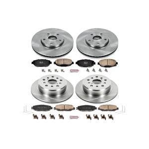 Brakes - Disc Brake Pad and Rotor Kit - Power Stop - Autospecialty By Power Stop 1-Click Daily Driver Brake Kits | Power Stop (KOE1074)