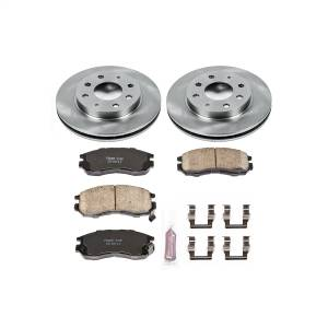 Brakes - Disc Brake Pad and Rotor Kit - Power Stop - Autospecialty By Power Stop 1-Click Daily Driver Brake Kits | Power Stop (KOE1090)