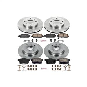 Brakes - Disc Brake Pad and Rotor Kit - Power Stop - Autospecialty By Power Stop 1-Click Daily Driver Brake Kits | Power Stop (KOE1034)