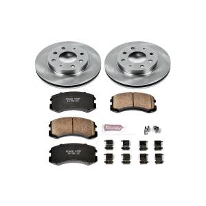 Brakes - Disc Brake Pad and Rotor Kit - Power Stop - Autospecialty By Power Stop 1-Click Daily Driver Brake Kits | Power Stop (KOE1092)