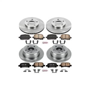 Brakes - Disc Brake Pad and Rotor Kit - Power Stop - Autospecialty By Power Stop 1-Click Daily Driver Brake Kits | Power Stop (KOE1060)