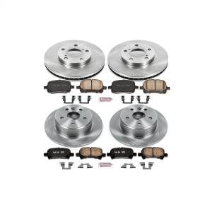 Brakes - Disc Brake Pad and Rotor Kit - Power Stop - Autospecialty By Power Stop 1-Click Daily Driver Brake Kits | Power Stop (KOE1063)