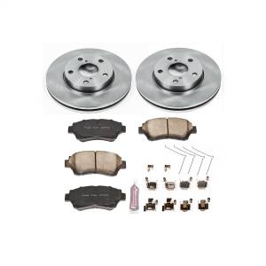 Brakes - Disc Brake Pad and Rotor Kit - Power Stop - Autospecialty By Power Stop 1-Click Daily Driver Brake Kits | Power Stop (KOE1070)