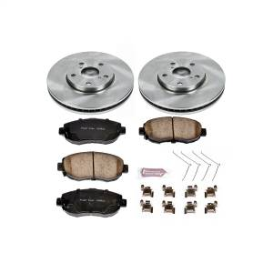Brakes - Disc Brake Pad and Rotor Kit - Power Stop - Autospecialty By Power Stop 1-Click Daily Driver Brake Kits | Power Stop (KOE1077)
