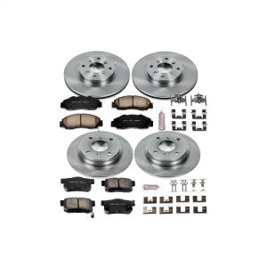 Brakes - Disc Brake Pad and Rotor Kit - Power Stop - Autospecialty By Power Stop 1-Click Daily Driver Brake Kits | Power Stop (KOE1038)