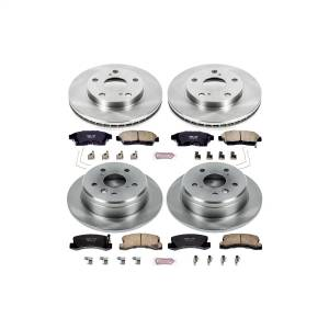 Brakes - Disc Brake Pad and Rotor Kit - Power Stop - Autospecialty By Power Stop 1-Click Daily Driver Brake Kits | Power Stop (KOE1053)