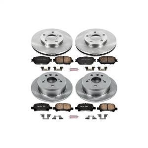 Brakes - Disc Brake Pad and Rotor Kit - Power Stop - Autospecialty By Power Stop 1-Click Daily Driver Brake Kits | Power Stop (KOE1065)