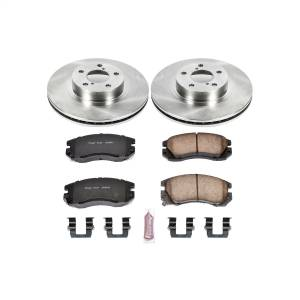 Brakes - Disc Brake Pad and Rotor Kit - Power Stop - Autospecialty By Power Stop 1-Click Daily Driver Brake Kits | Power Stop (KOE1118)