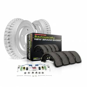 Brakes - Drum Brake Shoe and Drum Kit - Power Stop - Power Stop 1-Click Daily Driver Drum And Shoe Kits | Power Stop (KOE15296DK)