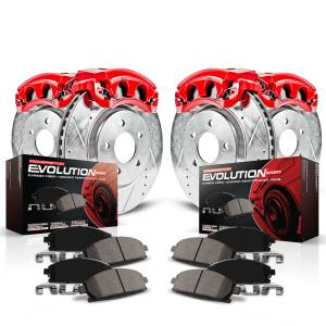Power Stop - Z23 Evolution Sport Performance 1-Click Brake Kit w/Calipers | Power Stop (KC2840B) - Image 2