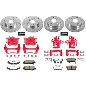 Power Stop - Z26 Extreme Street Warrior 1-Click Brake Kit w/Calipers | Power Stop (KC6942-26) - Image 1