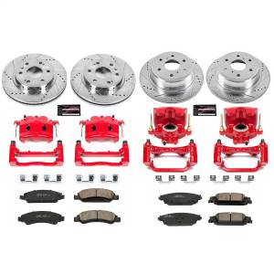 Power Stop - Z23 Evolution Sport Performance 1-Click Brake Kit w/Calipers | Power Stop (KC7225) - Image 1