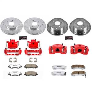 Power Stop - Z26 Extreme Street Warrior 1-Click Brake Kit w/Calipers | Power Stop (KC2395-26) - Image 1