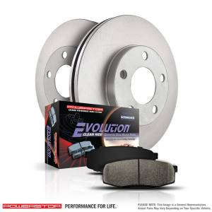 Brakes - Disc Brake Pad and Rotor Kit - Power Stop - Autospecialty By Power Stop 1-Click Daily Driver Brake Kits | Power Stop (KOE1075)