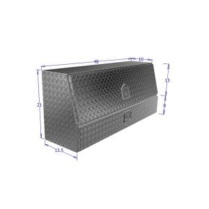 Truck Bed Accessories - Tool Box - Truck Bed Side Rail - Westin - Brute Contractor TopSider Tool Box | Westin (80-TBS200-48-BD)