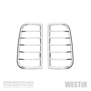 Exterior Lighting - Tail Light Guard - Westin - Sportsman Tail Light Guard Chrome | Westin (39-3000)