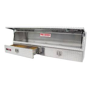 Truck Bed Accessories - Tool Box - Truck Bed Side Rail - Westin - Brute Contractor TopSider Tool Box | Westin (80-TBS200-72-BD)